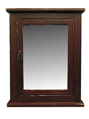 "24"" W x 30"" H Rustic Mission Medicine Cabinet/Surface Mount/Dark Finish/Handmade"