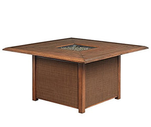 Ashley Furniture Signature Design - Zoranne Square Fire Pit Table - Slatted Top - Beige & Brown