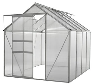 Portable Greenhouses for outdoors | 6 X 8 Greenhouse | Sunroom | Large Green House for plants |Aluminum Patio greenhouse plastic panels |Glass Greenhouse kits |Large greenhouses for outdoors by Ogrow