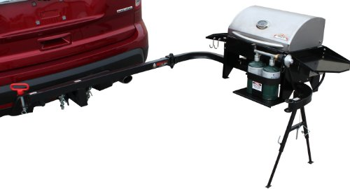 Party King Grills PKG-VJV-6412 SWING'N Smoke Varsity Grill Package, Includes Varsity Grill, Varsity Cradle and VERSArm LT Swing Arm