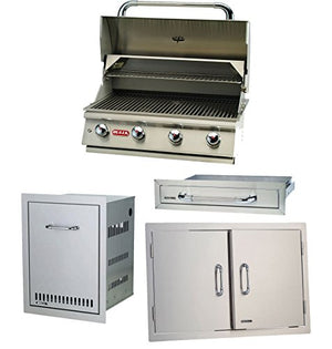 Bull Lonestar 4 Burner 30'' Stainless Steel Grill Propane & Accessory Package
