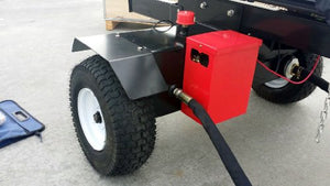 50 Ton Log Wood Splitter Hydraulic 15HP Gas Engine - 4 Way Splitting Wedge - Electric Start - Tow Hitch Package - 1 Year Parts Warranty