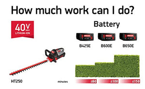 Oregon Cordless HT250 Hedge Trimmer Kit with 4.0 Ah Battery Pack and C750 Rapid Charger