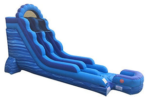 TentandTable 18-Foot Blue Aqua Marble Inflatable Water Slide, Wet or Dry, Commercial Grade, 1.5 HP Blower and Stakes Included