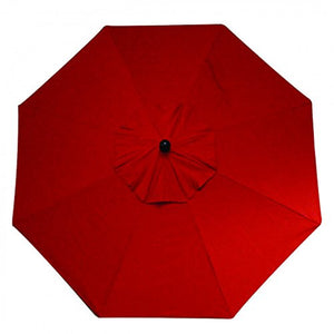 9 Foot Tilt and Crank Octagon O'Bravia Umbrella - Balcony Height-Red