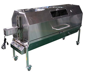 "Charotis 62"" Propane Spit Roaster, 60W Motor, 100$ Stainless Steel BBQ rotisserie Whole Pig, Lamb, Goat - Model SSG1-XL"