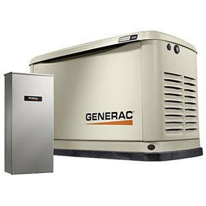 Generac 7036 Guardian Series 16kW/16kW Air Cooled Home Standby Generator with 16 Circuit 100 Amp Transfer Switch