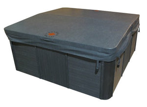 Canadian Spa Company 82in x 82in Square Hot Tub Cover with 5in/3in Taper, 4in Radius - Grey