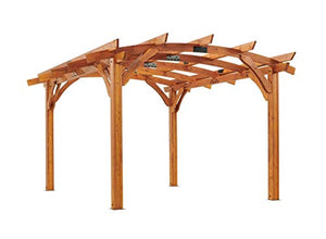 The Outdoor GreatRoom Company Sonoma REDWOOD 12' x 12' Arched Wood Pergola
