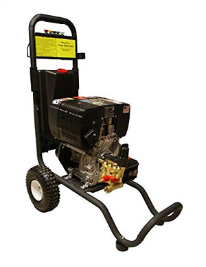 Cam Spray 25006DX Cart Mount Diesel Powered Cold Water Pressure Washer, 2500 psi, 50' Hose