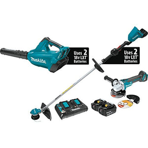 Makita XT277PTX 18V X2 (36V) LXT Lithium-Ion Brushless Cordless 2-Pc. Combo Kit (5.0Ah) and Brushless Angle Grinder