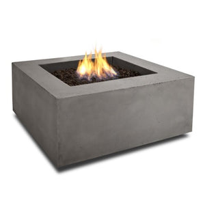 Real Flame T9620LP Baltic Square Propane Fire Table, Glacier Gray