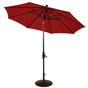 Amauri Outdoor Living Zuma Shore Collection Outdoor Patio Umbrella, 9ft, with Jockey Red Sunbrella Shade
