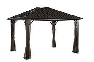 Sojag Genova Sun Shelter, 10' x 12', Dark Brown