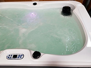 2 Person Massage Hydrotherapy Bathtub Tub Hot Tub Spa, with 3KW Water Heater, Dark Grey Skirt and Hard Top Cover