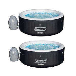 Coleman SaluSpa 4 Person Portable Inflatable Outdoor Spa Hot Tub (2 Pack)
