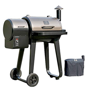 ZGRILLS Wood Pellet BBQ Grills & Smoker Outdoor Pellet Grill,450 Square inches,Bronze and Black