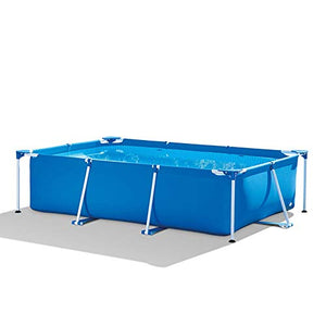 BATHTUPA Inflatable Bathtub- Metal Frame Rectangular Pool Without Filter Pump Detachable Steel Frame Rectangular Pool with Steel Frameeasy Set Up with No Tools Required Swimming Pool