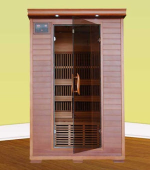 Blue Wave 2 Person Cedar Carbon Sauna