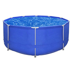 Daonanba Above Ground Inflatable Pool Swimming Pool with Durable Painted Steel Frame Round 12' x 4'