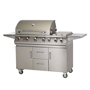 Bull Outdoor Products Premium Stainless Steel 7-Burner Propane Barbecue Grill