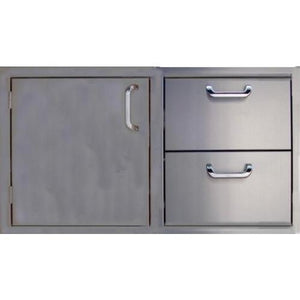260 Series 30 Inch Single Door - 2 Drawer Combo