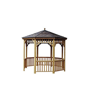 Handy Home Products San Marino Tight Knot Cedar Gazebo, 10-Feet