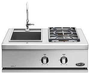 DCS Liberty Built-In Dual Side Burner and Sink (71130) (BFGC-30BS-L), 30-Inch, Propane Gas