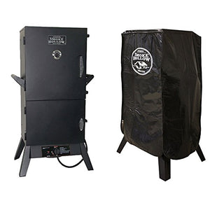 Smoke Hollow 38-inch Vertical Propane Smoker + Weather Resistant Smoker Cover