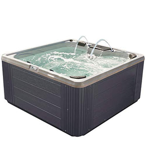 Essential Hot Tubs 30-Jet 2020 Adelaide Hot Tub, Seats 5-6, Gray