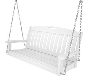 "POLYWOOD NS48WH Nautical 48"" Swing, White"