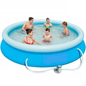 NAKSHOP Inflatable Swimming Pool For Family Easy Set Pump Large Above Ground For Kids And eBook By