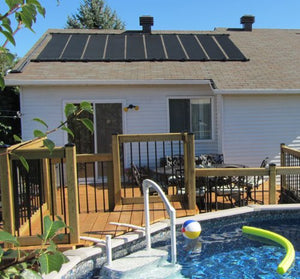 2-2'X12' SunQuest Solar Pool Heater with Couplers and Roof/Rack Mounting Kit