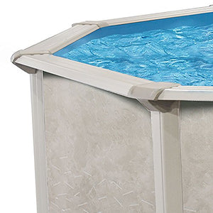"Outdoor Water Above Ground Swimming Pool Heavy Duty Round Steel Frame 24' x 52"" Patio Pools Summer Fun - Skroutz"