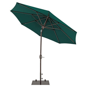 TrueShade Plus Patio Umbrella Market Outdoor Umbrella with Sunbrella Fabric - Auto Tilt and Crank - Includes Storage Cover - Freestanding or Table Hole. - 9' Diameter - Forest Green