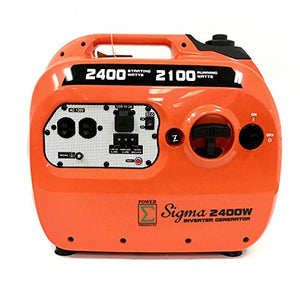 POWER PRODUCTS SIGMA SG2400I 2100W Rated Power/2400W Starting Power Inverter Generator Portable Gas Powered Parallel Capable