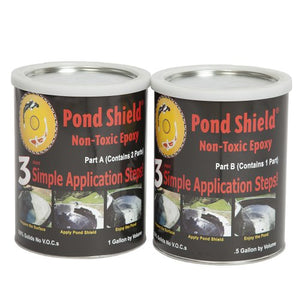 Pond Armor SKU-CLEAR-GA Non-Toxic Pond Shield Epoxy Paint, 1.5-Gallon, Clear