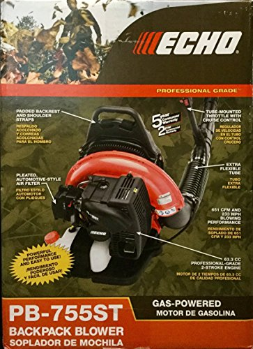ECHO Professional Grade 651 CFM & 233 MPH Backpack Blower w/ Tube Throttle Control