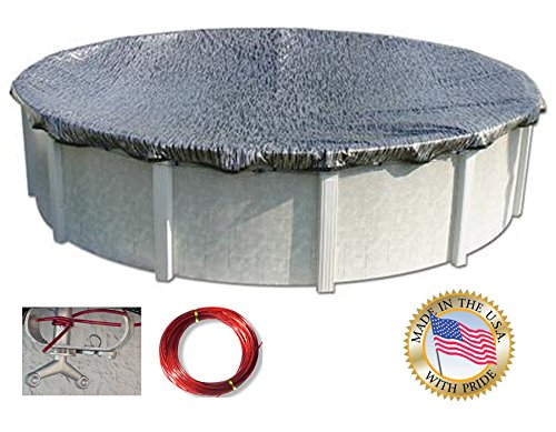 Hinspergers EM2141OV 21'x41' Oval Eviro-Mesh Above Ground Winter Pool Cover