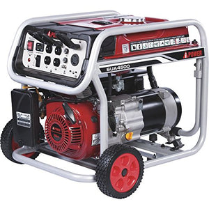 A-iPower SUA4500 4500 Watt Portable Generator Gas Powered Wheel Kit Included, Rated Watt/3500 Running, EPA/CARB complied