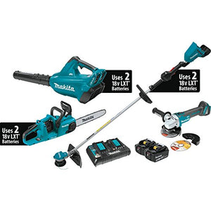 Makita XT331PTX 18V X2 (36V) LXT Lithium-Ion Brushless Cordless 3-Pc. Combo Kit (5.0Ah) and Brushless Angle Grinder