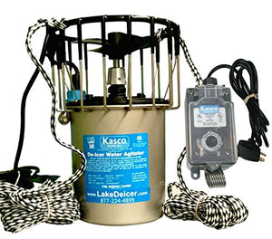 1 hp Kasco Marine Lake & Pond De-icer with C-10 Timer Thermostat Controller (50 ft power cord)