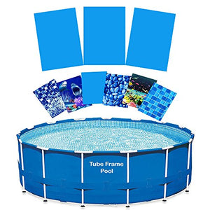Quality Pool Products 16' Tube Frame Pool Liner Replacement Re-lining Kit (Glacier Peak)