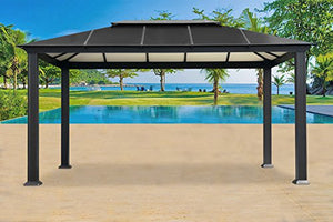 Paragon-Outdoor GZ3XL Backyard Structure Hardtop Santa Monica Gazebo, 11' x 16', Black