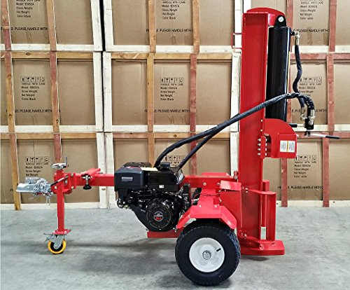 50 Ton Log Wood Splitter Hydraulic 15HP Gas Engine - Cutting Wedge - Electric Start - Ball Hitch - 1 Year Parts Warranty