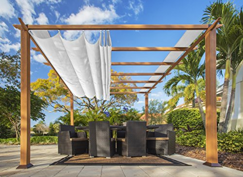Paragon Outdoor PR11WD1W 11 x 11 ft. Florence Pergola (Canadian Wood/White)