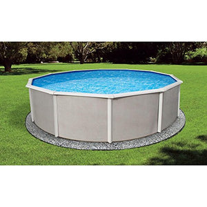 "Blue Wave NB2524 18' Round 52"" Belize Steel Pool in"