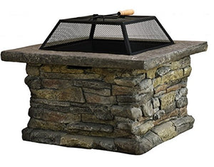 New Christopher Knight Home Corporal Natural Stone Square Fire Pit