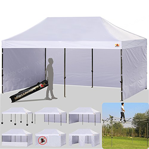 Ez Up Canopy 10x20 >> Abccanopy 10 X 20 Ez Pop Up Canopy Tent Commercial Instant Gazebos With 9 Removable Sides And Roller Bag And 6x Weight Bag