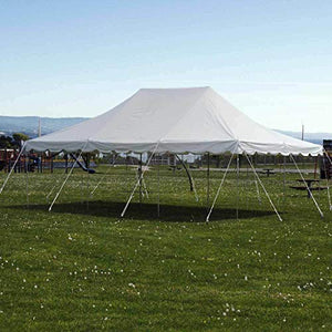 9TRADING 20' x 30' Pole Tent Commercial Waterproof Party Wedding Outdoor White Vinyl Canopy